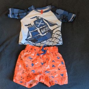 Joe Fresh 6-12 mo swim outfit